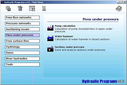 Hydraulic Programs suite v4 x – Water Simulation